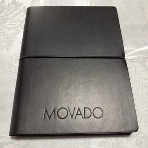 New Movado Leather Journal Notebook